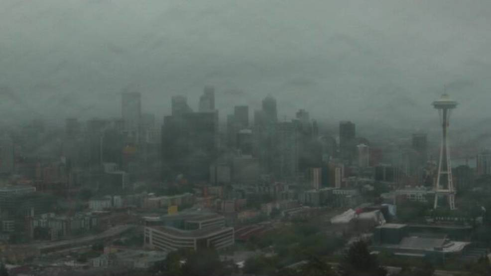 Ding, dong, the dry streak's dead! Rain halts Seattle's record streak at 55 days