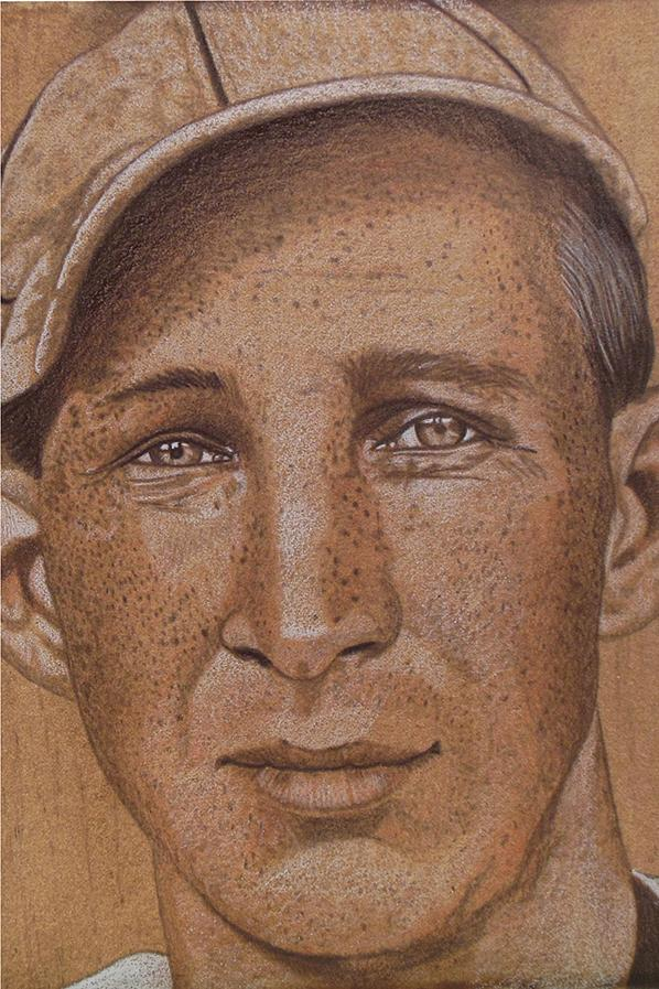 "Reds third baseman ""Harvard"" Eddie Grant was one of the few active major league players to die in action during WWI, Naughton explains. / Image: Brent Naughton // Published: 4.3.18"