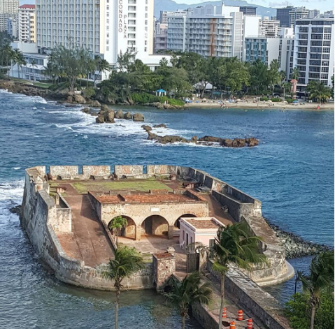 Image: IG user @thegaytraveler / Post: One of the great views from the Caribe Hilton is of Fort San Jerónimo, built in the 17th century. Learn more about the hotel by visiting www.caribehilton.com. // Published: 9.28.2015
