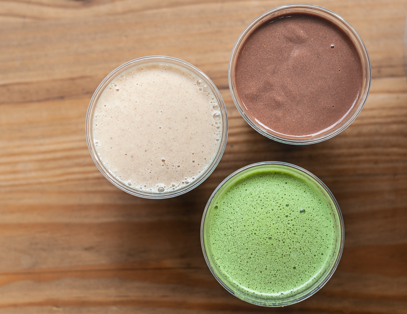 OMG! (Ohm my greens!) Juice , Chocolate Smoothie, and Banilla Smoothie / Image: Kellie Coleman // Published: 12.27.20