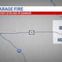 Garage fire causes $100,000 in damage