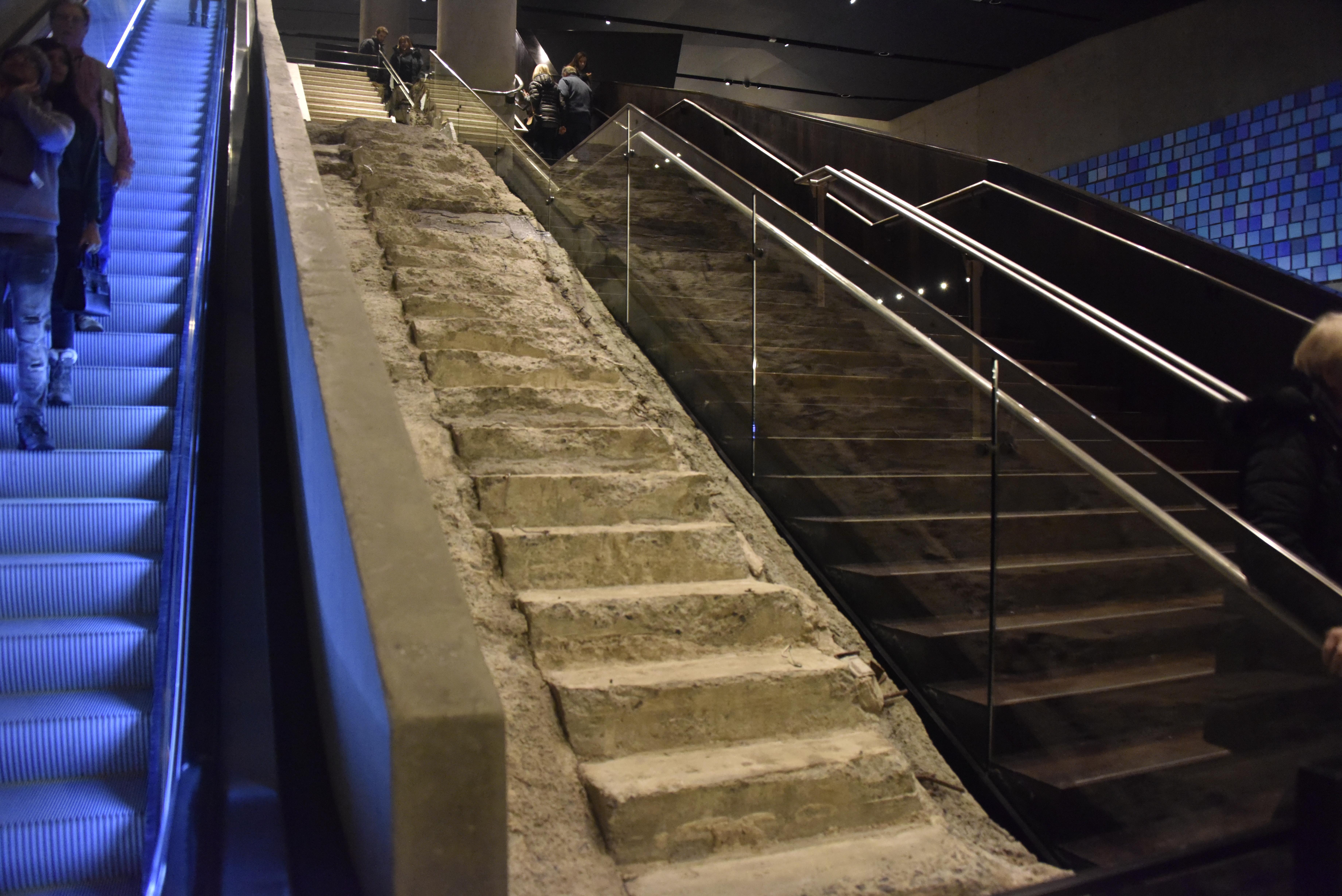 'Survivor Stairs,' next to escalators at 9-11 Memorial &amp;amp; Museum.{&amp;nbsp;}{&amp;nbsp;}Randy Beamer/News 4 San Antonio Photo.<p></p>