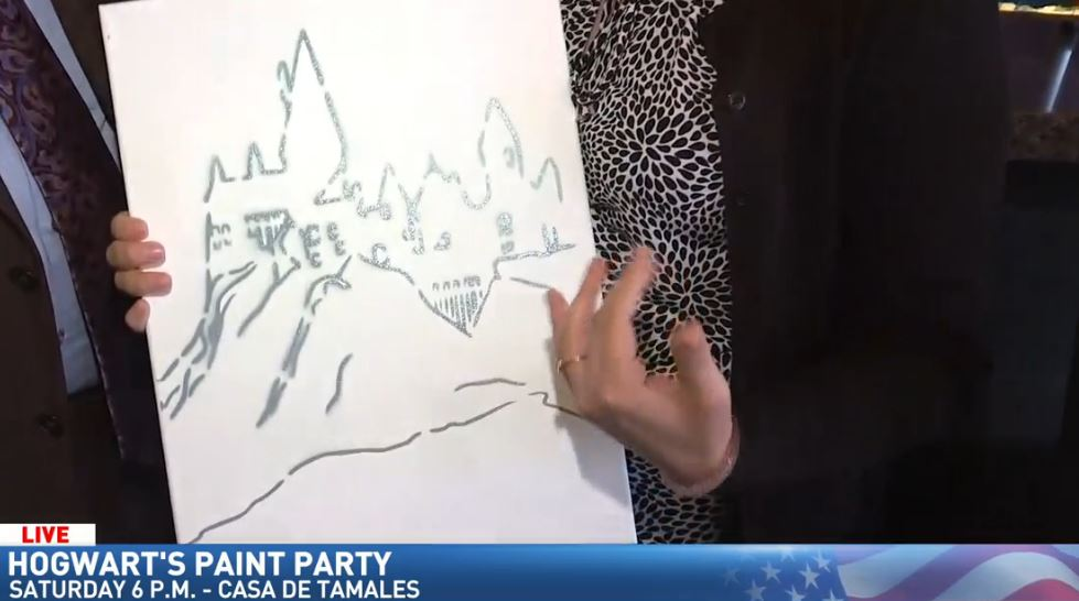 Jim previews Hogwarts Paint Party