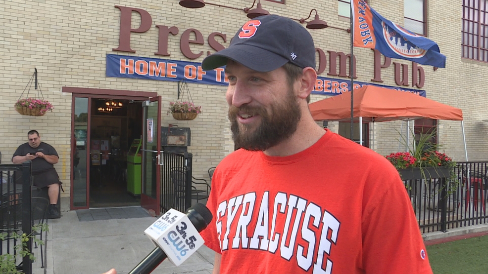 Orange fan from Alaska makes trip to Syracuse for big football game