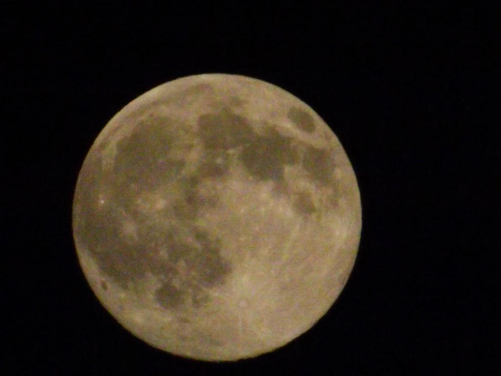 A supermoon is seen over Alabama, Saturday, July 12, 2014.