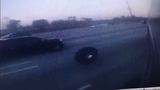 Video shows tires flying off bus before crash on I-95