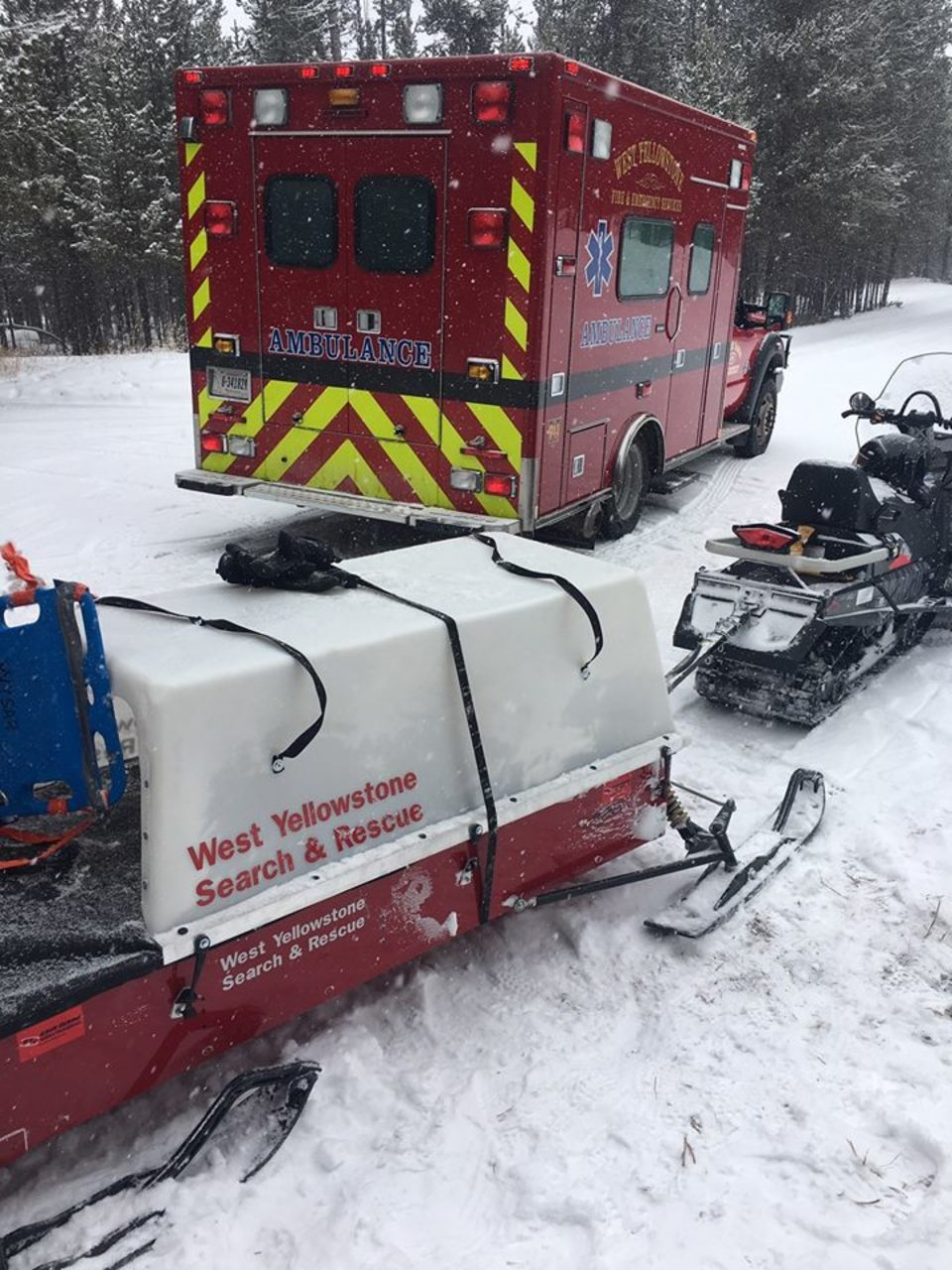Snowmobile Crash On Two Top Trail Keci
