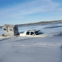 Caught on camera: Truck goes through ice of Sturgeon Bay