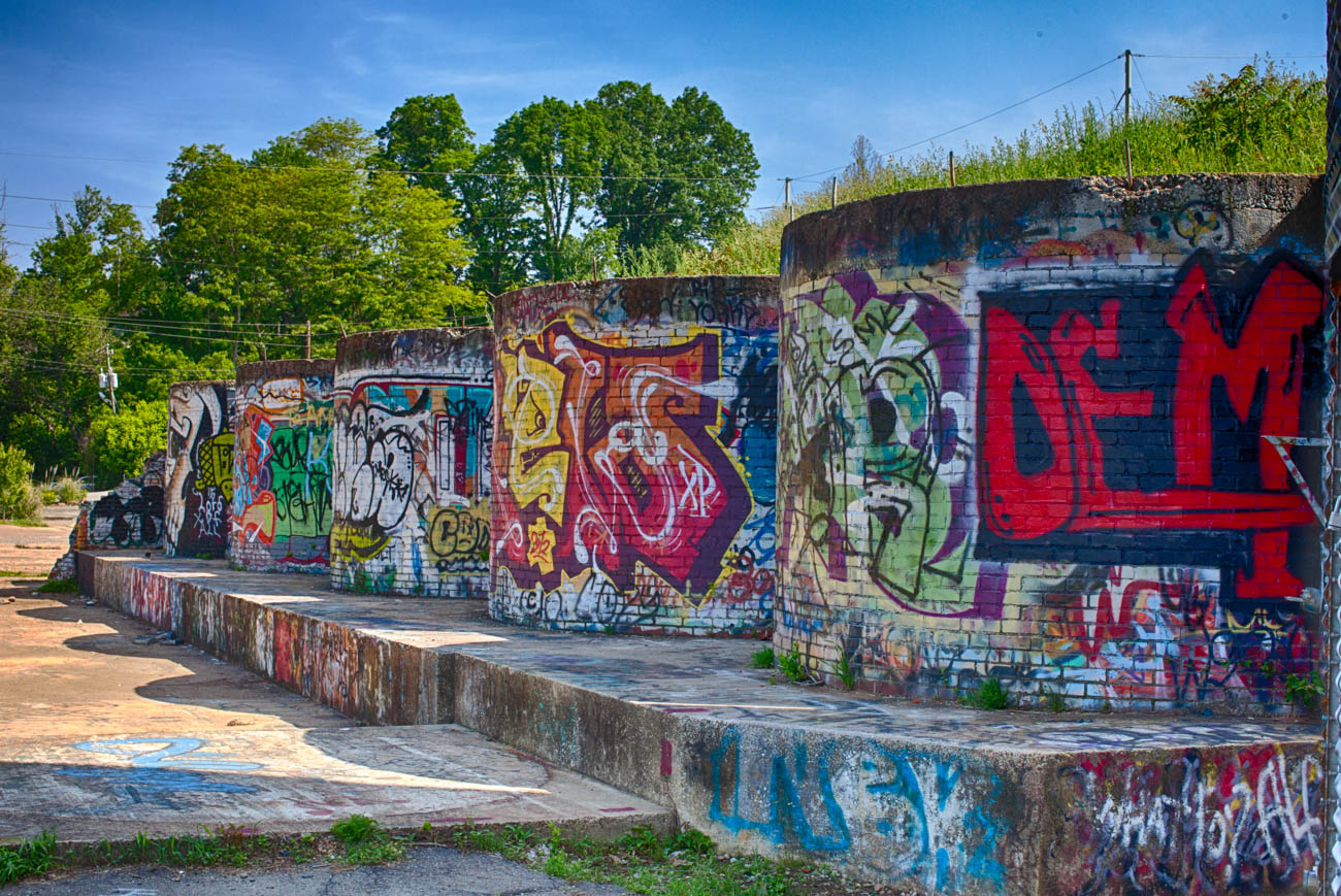 Graffiti in the River Arts District / Image courtesy of Explore Asheville // Published: 12.29.18