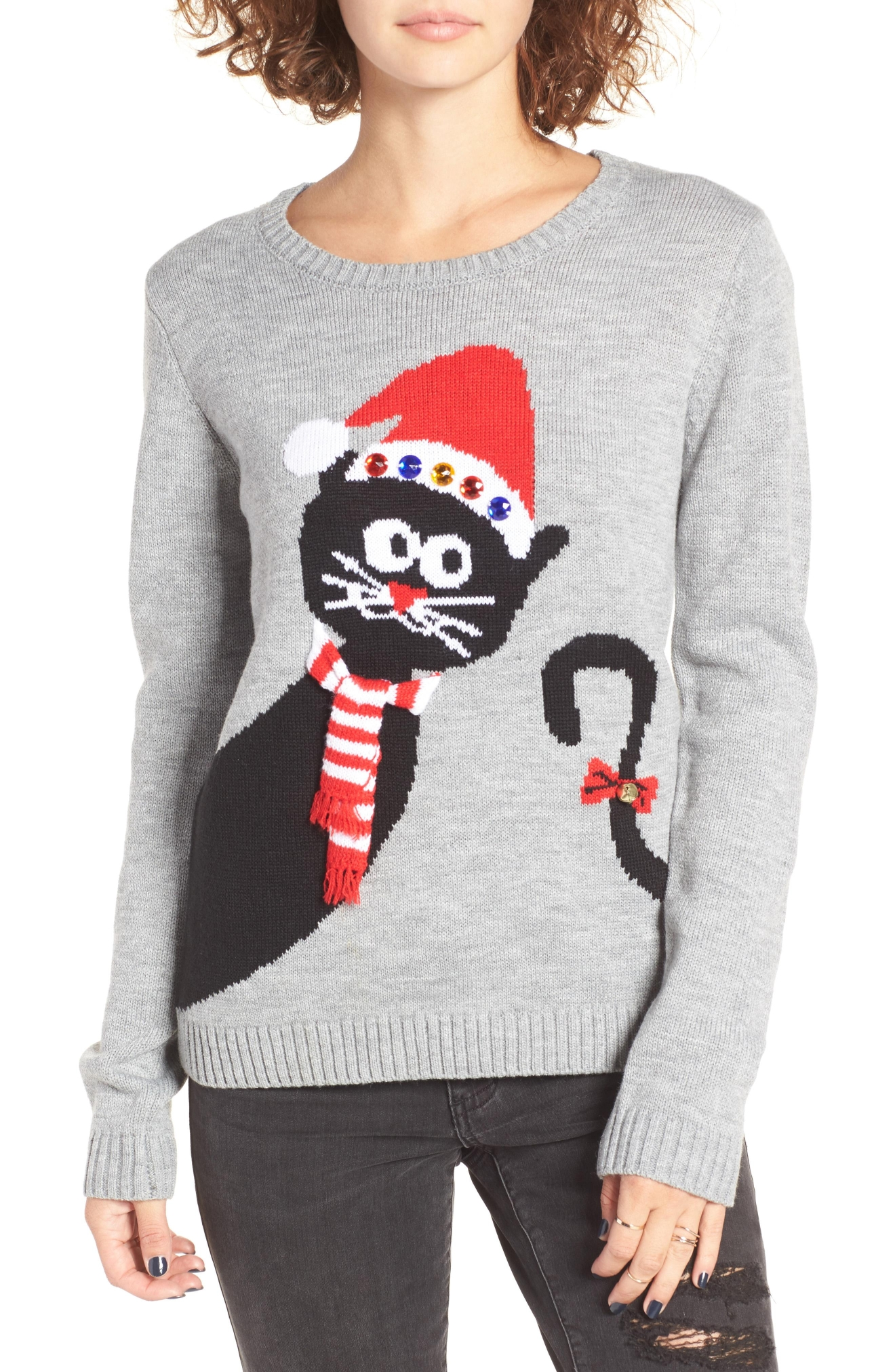 Love By Design Peekaboo Cat Christmas Sweater, $39(Photo: Nordstrom)