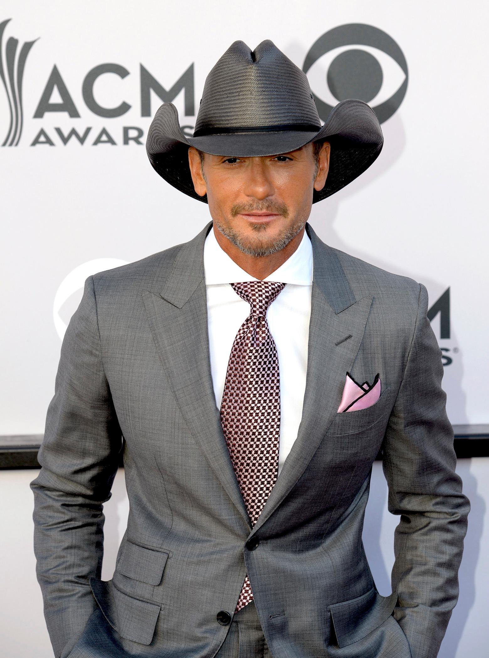 Tim McGraw, nominee for Single Record of the Year Song of the Year and Vocal Event of the Year on the Academy of Country Music Awards red carpet at T-Mobile Arena. Sunday, April 2, 2017. (Glenn Pinkerton/ Las Vegas News Bureau)