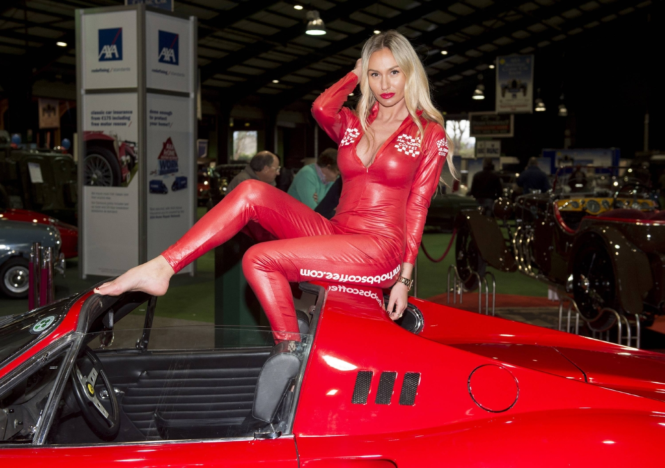 Model Ana Pavel poses with a selection of the finest examples on display at the AXA National Classic Car Show 2016 at RDS  Featuring: Ana Pavel Where: Dublin, Ireland When: 04 Mar 2016 Credit: WENN.com  **Not available for publication in Ireland**