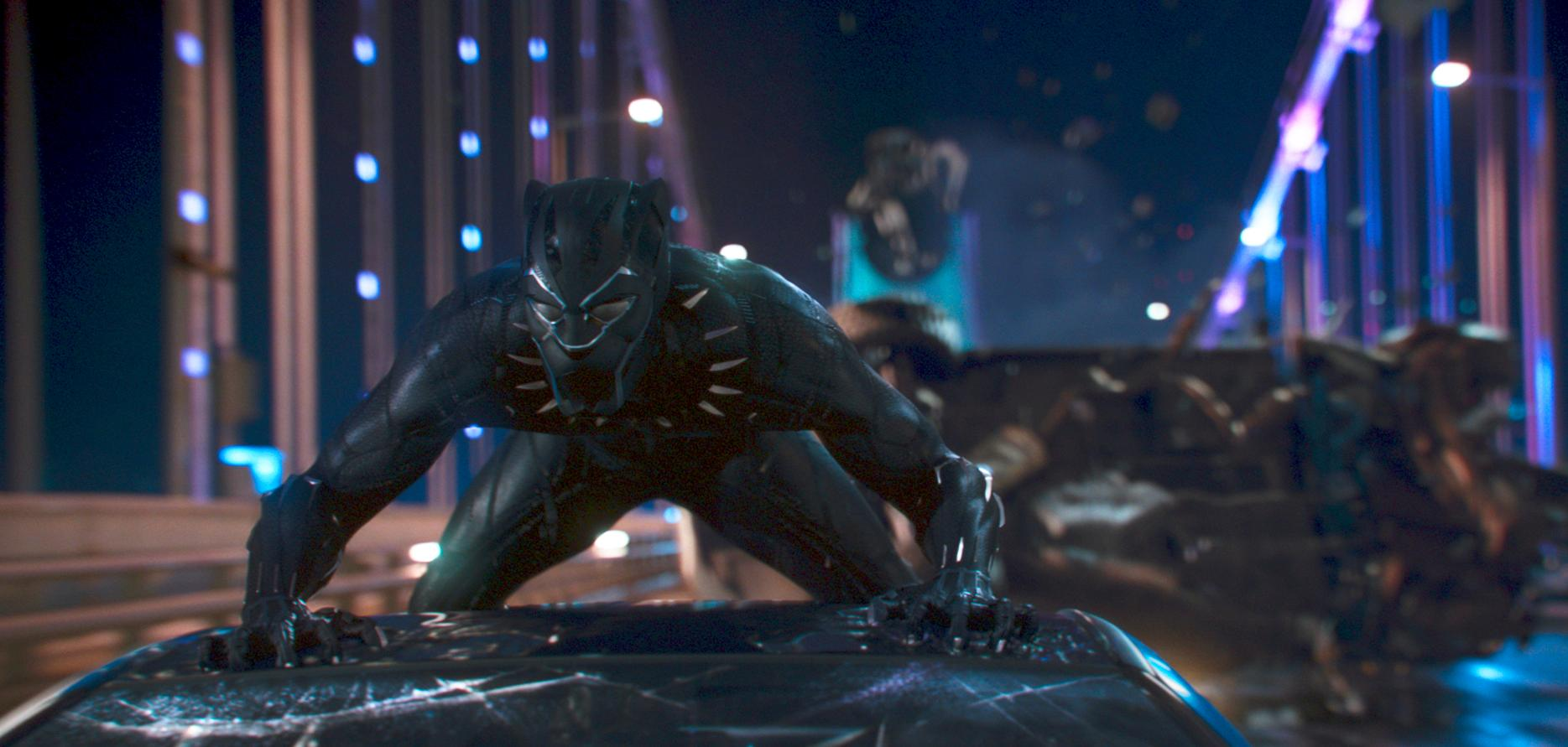 "This image released by Disney shows a scene from Marvel Studios' ""Black Panther."" (Matt Kennedy/Marvel Studios-Disney via AP)"
