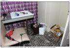 Desk in master bedroom of 32-135 with SCUBA mask and power hand drill.PNG