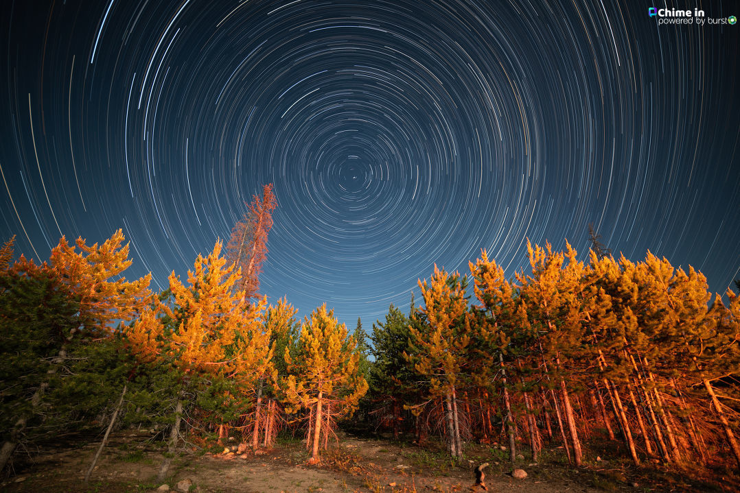 4th Of July Star Trails, Uinta Mountains.{ }