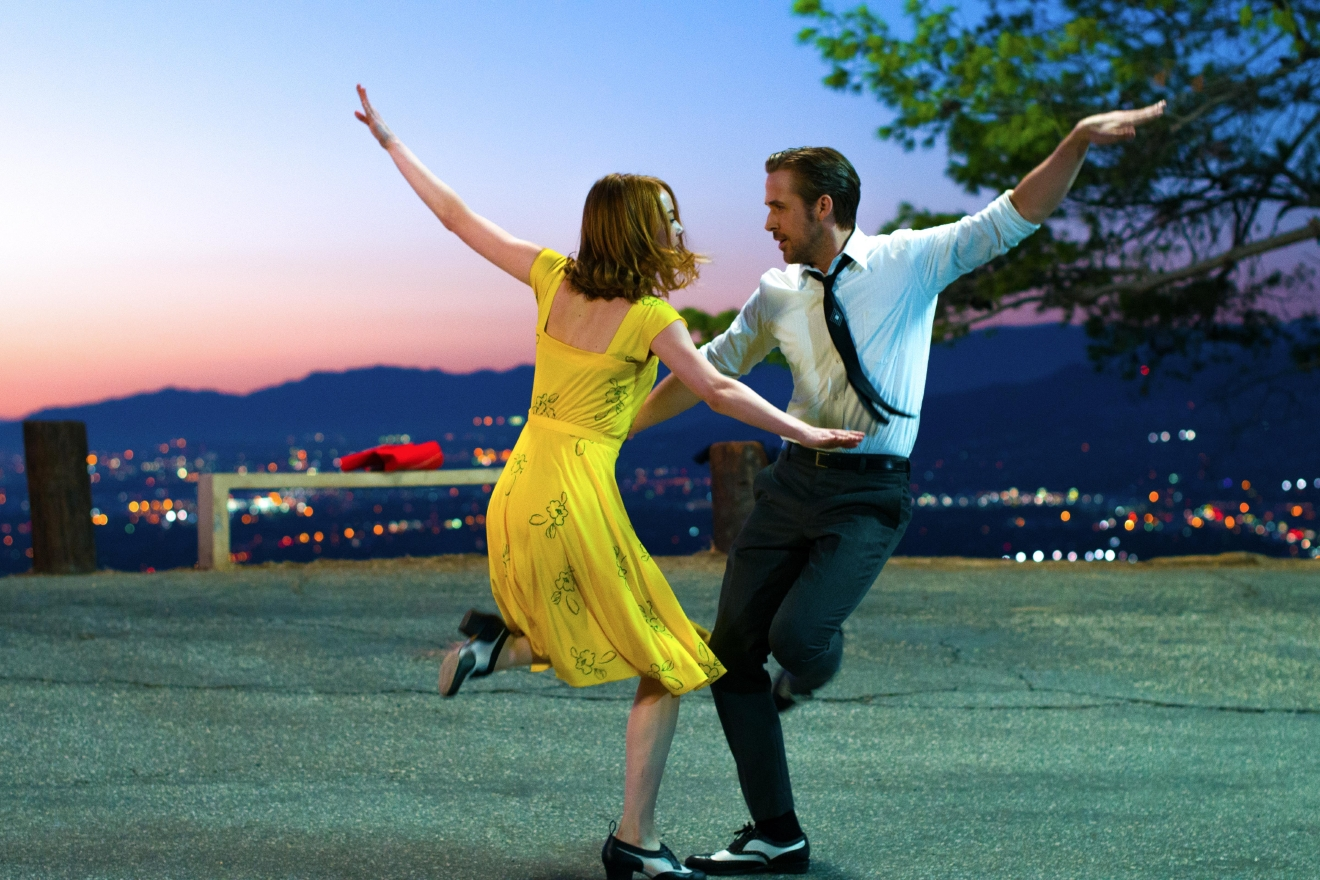 "Sebastian (Ryan Gosling) and Mia (Emma Stone) in ""La La Land.""   Courtesy Lionsgate. Photo: Dale Robinette."