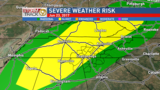 Strong to severe storms possible Friday