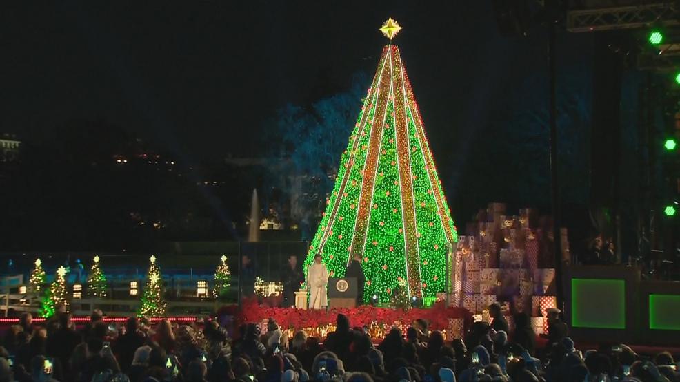 Washington Dc Christmas.Cold Windy Day For National Christmas Tree Lighting