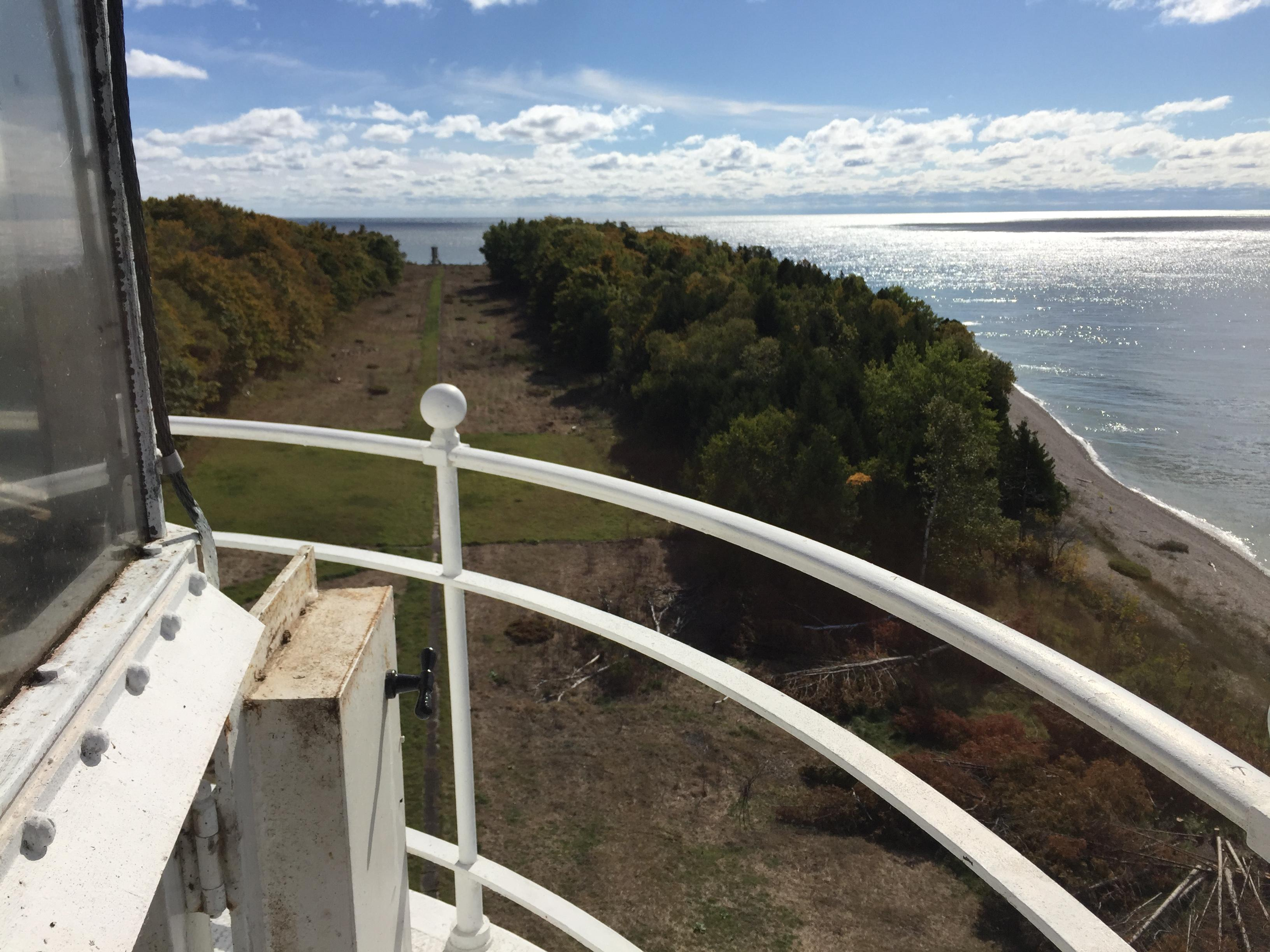The view of the Death's Door passage as seen from the tower on Plum Island, Oct. 11, 2017. (WLUK/Eric Peterson)