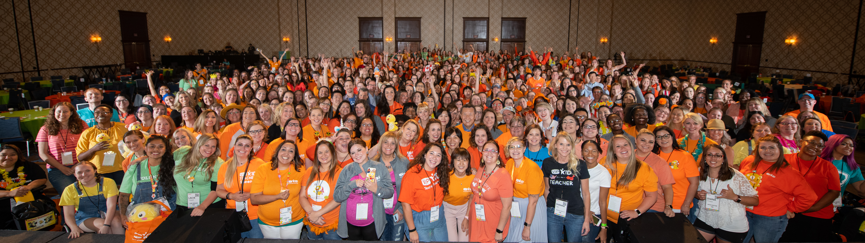The regional teacher conference was an all-day gathering of 500 online English teachers. (Courtesy{ }VIPKid/Grant Miller Photography)