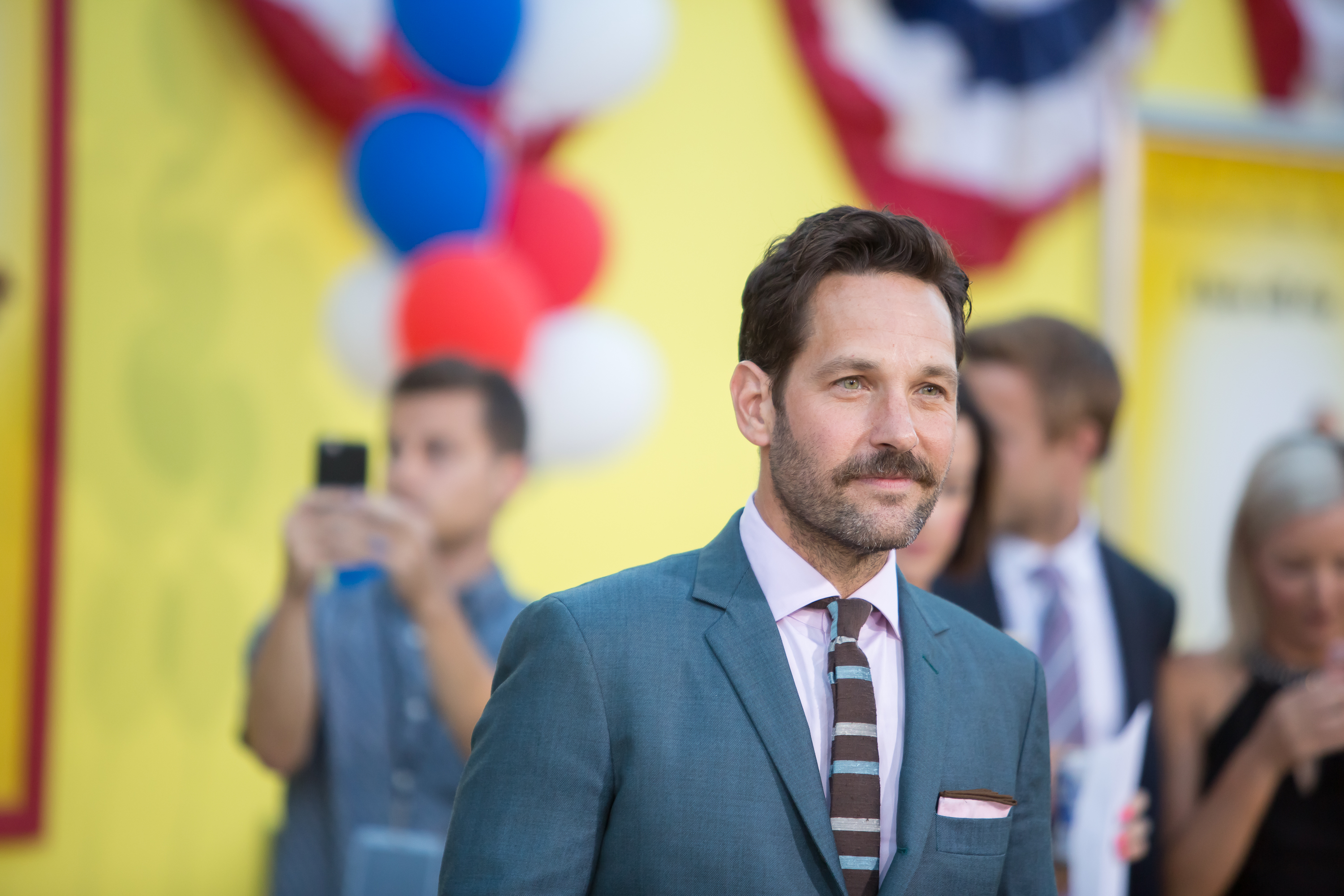 Paul Rudd attending the Los Angeles premiere of Sony's 'Sausage Party' at the Regency Village Theatre in Westwood, California  Featuring: Paul Rudd Where: Los Angeles, California, United States When: 09 Aug 2016 Credit: Michael Boardman/WENN.com