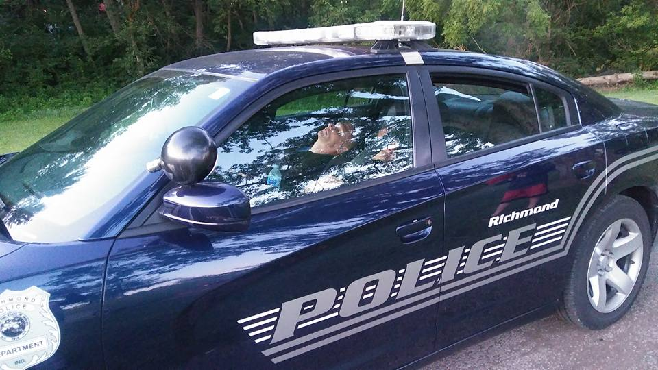 Officers caught sleeping in police cruiser in Richmond, Indiana.