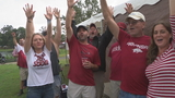 Rain or shine, Razorback fans are calling the Hogs!