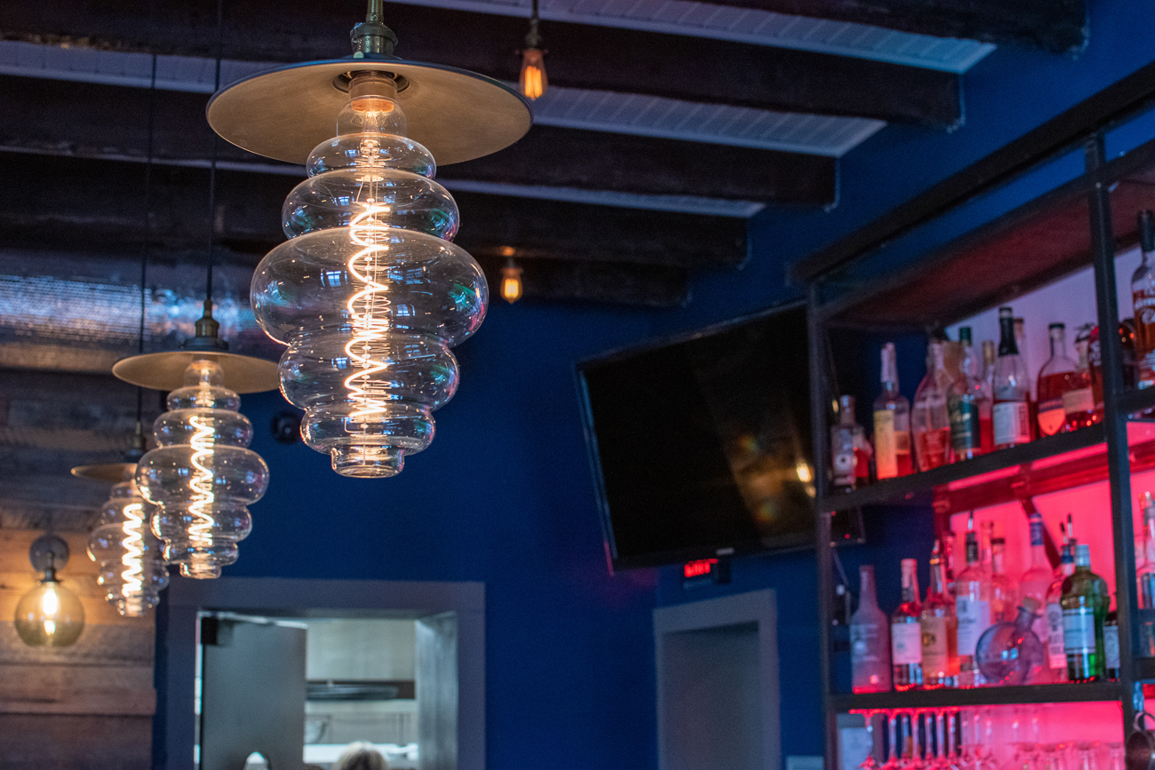 The beehive-shaped lighting fixtures could easily blend in with the rest of the decor for the untrained eye. / Image: Matt Groves // Published: 2.23.20