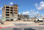 Demolition continues at the Mirro building in Manitowoc Aug. 24, 2017.