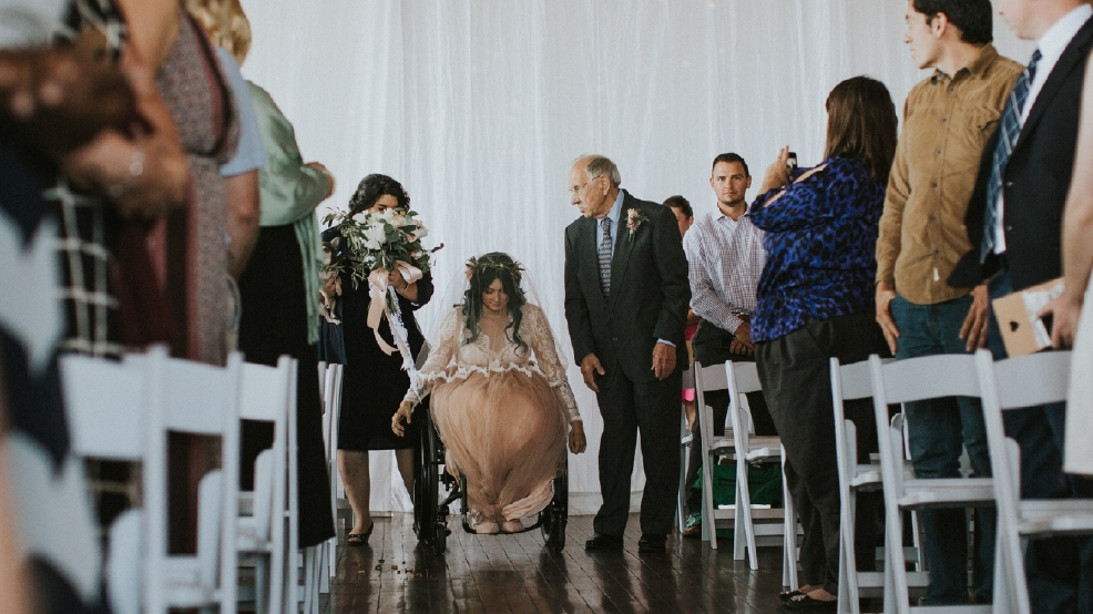 After Being Paralyzed In Freak Accident Bride Walks Down Aisle Dances At Wedding