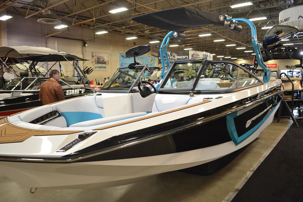 The annual Treasure Valley Boat Show is underway at Expo Idaho. Visitors can check out some of the latest, most unique (and rather jaw-dropping) boats to hit the market. The show continues through Sunday. (Photo by Amber Litz)