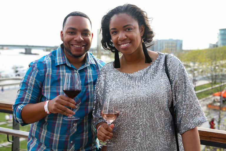 District Winery launched its crisp, dry and incredibly drinkable rosé with a party on April 22. The soirée included live music, small bites, stunning sunset views from the winery's rooftop, and plenty of wine.{ } If you weren't able to get to the party, you can still grab a bottle of D.C.'s first ever rosé at District Winery. (Amanda Andrade-Rhoades/DC Refined)