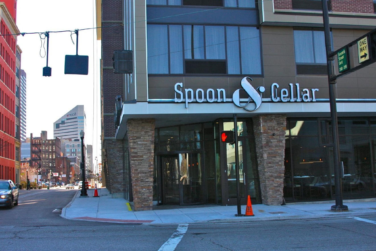 The newly-opened Spoon & Cellar offers a sophisticated fine dining experience with a robust wine selection. ADDRESS: 701 Broadway St., Cincinnati, OH 45202 / Image: Molly Paz // Published: 3.25.17