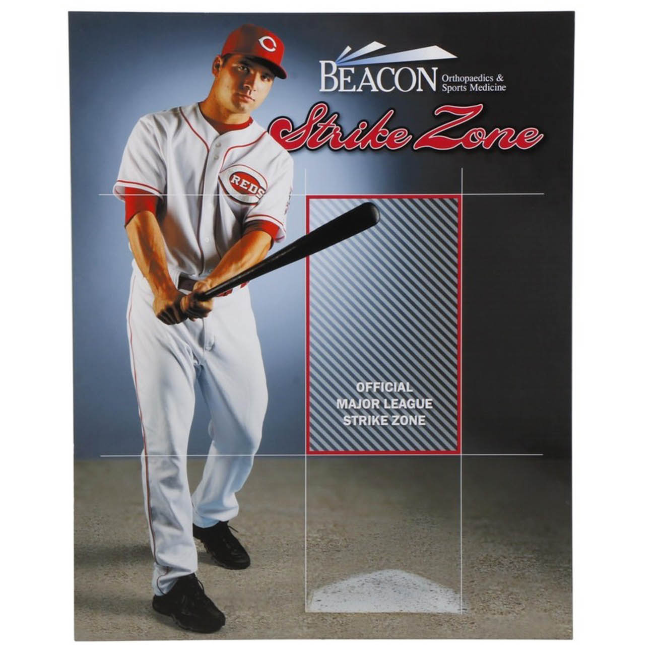 "This Reds Hall of Fame Strike Zone exhibit panel featuring Joey Votto is life-size and demonstrates the famous left-handed swing of the 2010{ }National League's ""Most Valuable Player"". / Image courtesy of Everything But The House (EBTH) // Published: 12.6.18"