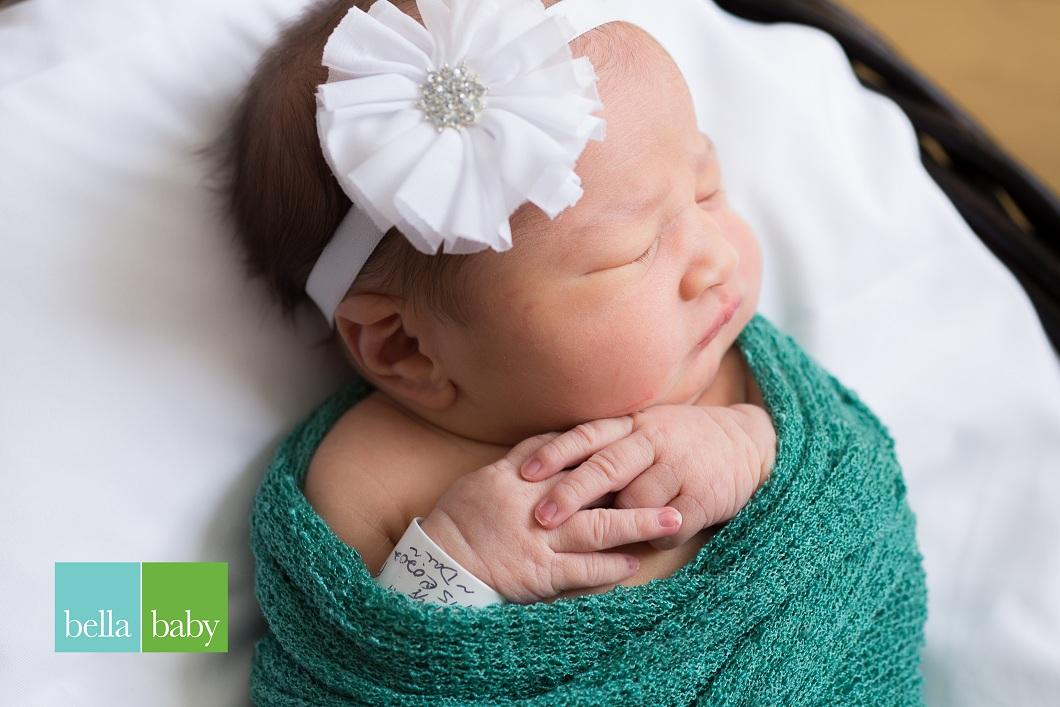 Abigaille, our Baby of the Day for November 13, 2015. Photo courtesy of Palms West Hospital and Bella Baby Photography