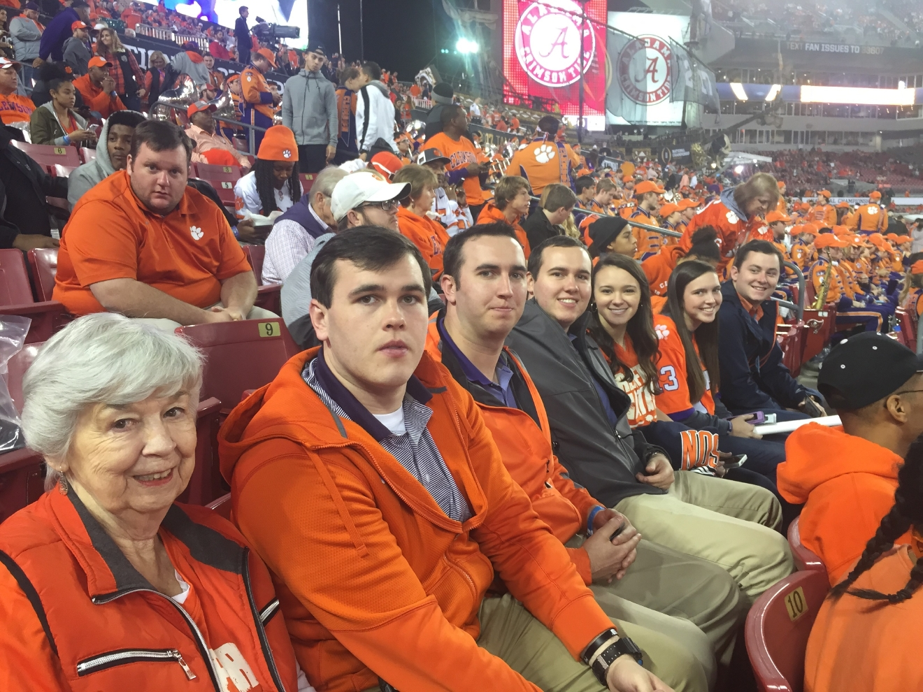 Renfrow Family watching the National Championship game.  (Photo Credit: Suzanne Renfrow)