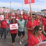 Hundreds march and rally in Kennewick for higher teacher salaries