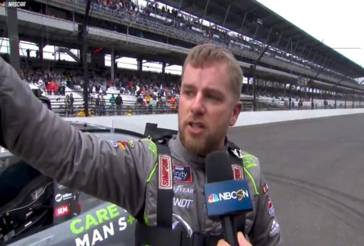 Emotional win for Justin Allgaier at the Brickyard Monday