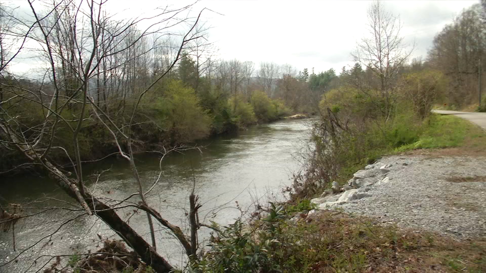 DEQ says SSO's, since October 2015, have not impacted water quality in the French Broad River. (Photo credit: WLOS)