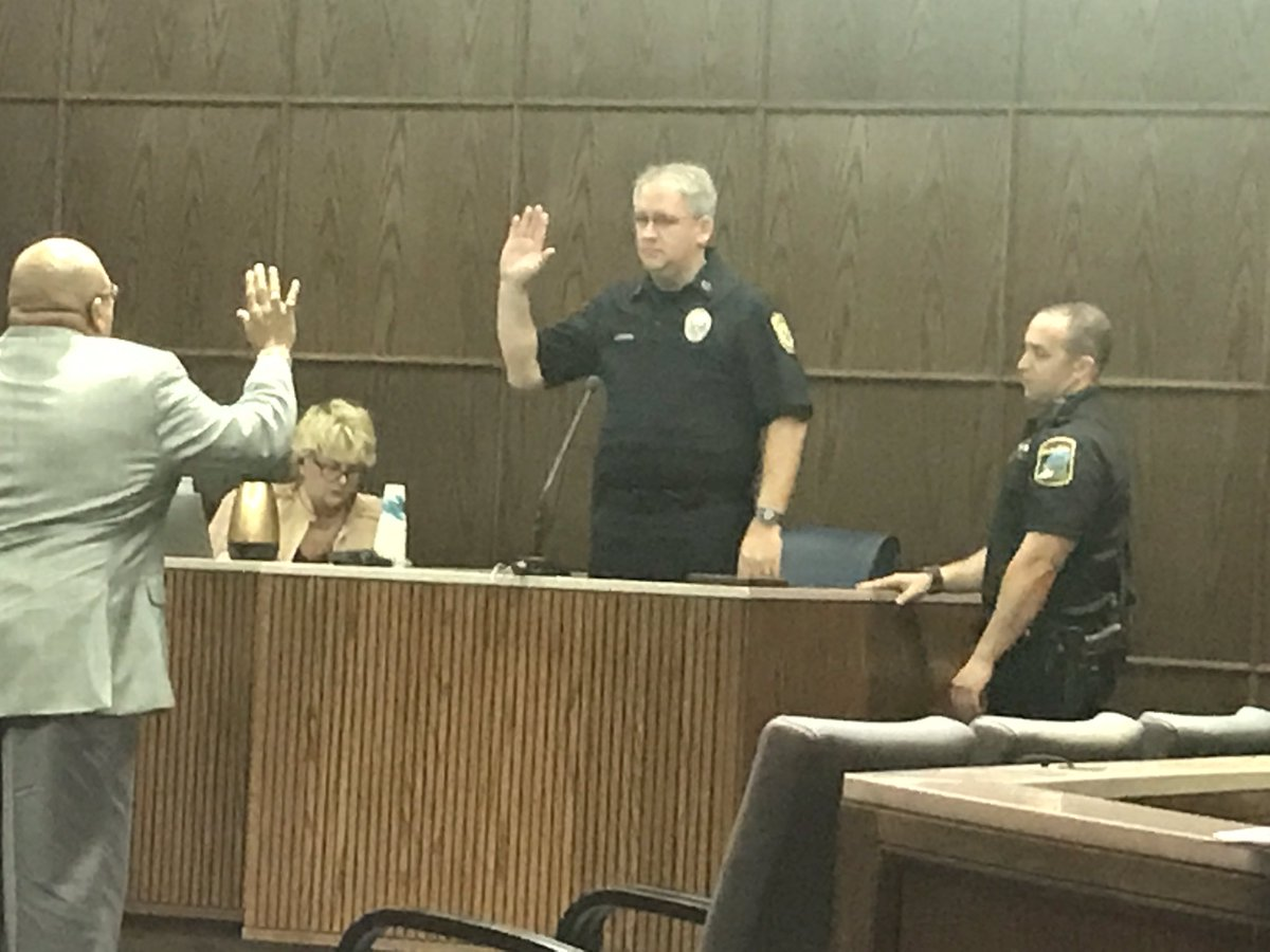 Officer Brian Hickman takes the stand. (Image: WTVC)