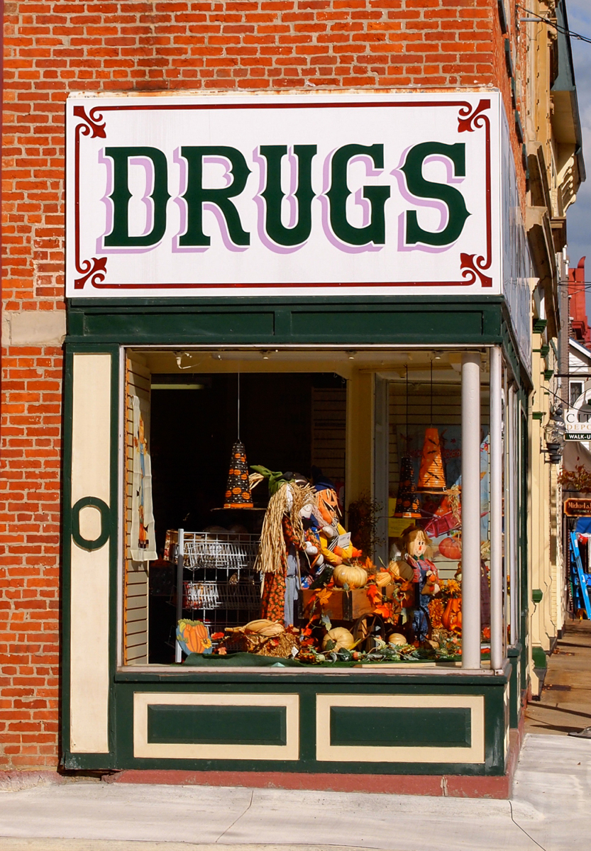 Old-timey drug store in Ripley, Ohio. (Image: Sherry Lachelle Photography)