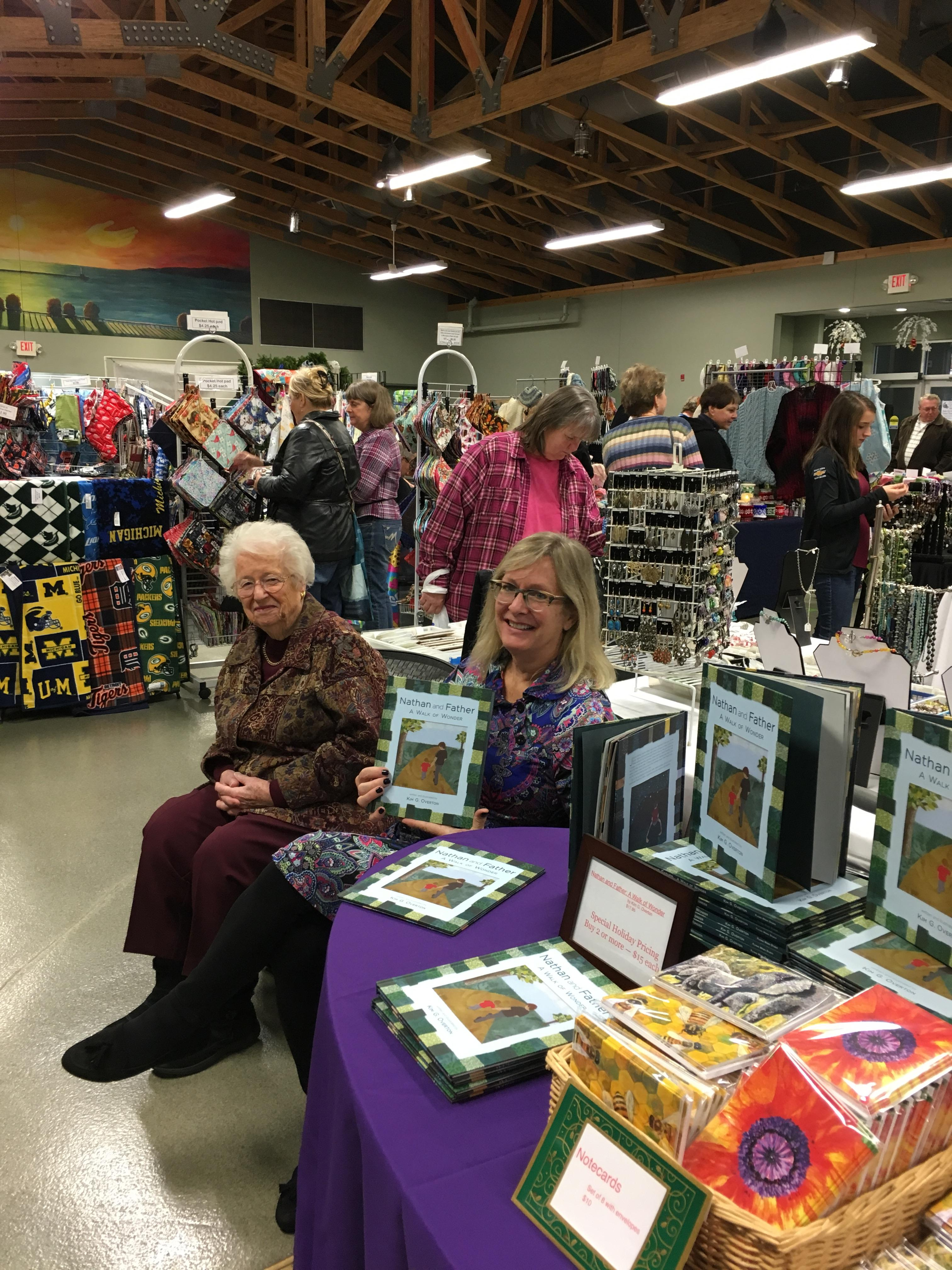 A craft show in Emmet County collected food and money to benefit a local food pantry.
