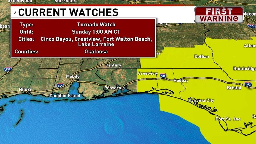 Florida Tornado Map.Tornado Watch Issued For Northwest Florida Wear