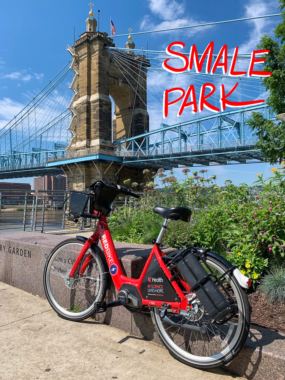Cincy Red Bike, the popular bike-share program that originally hit city streets in September 2014, recently added a fleet of eBikes (electric-assisted bicycles) to the +50 docking stations scattered around town. While they require the rider to pedal, the eBike dramatically reduces the effort it takes to get around thanks to an internal battery-powered motor. The motor is activated by simply pedaling the bicycle after turning on the battery. The power button is on top of the LCD screen on the left handlebar. Thanks to the electric assist, riders can tackle Cincinnati's many hills and ride longer distances without tiring out as easily. There is no up-charge to use an eBike; if you have a daily/monthly pass or a yearly membership, normal bikes and eBikes are available to use. For information on pricing and how to rent a Red Bike, visit CincyRedbike.org / Image: Phil Armstrong // Published: 7.13.19