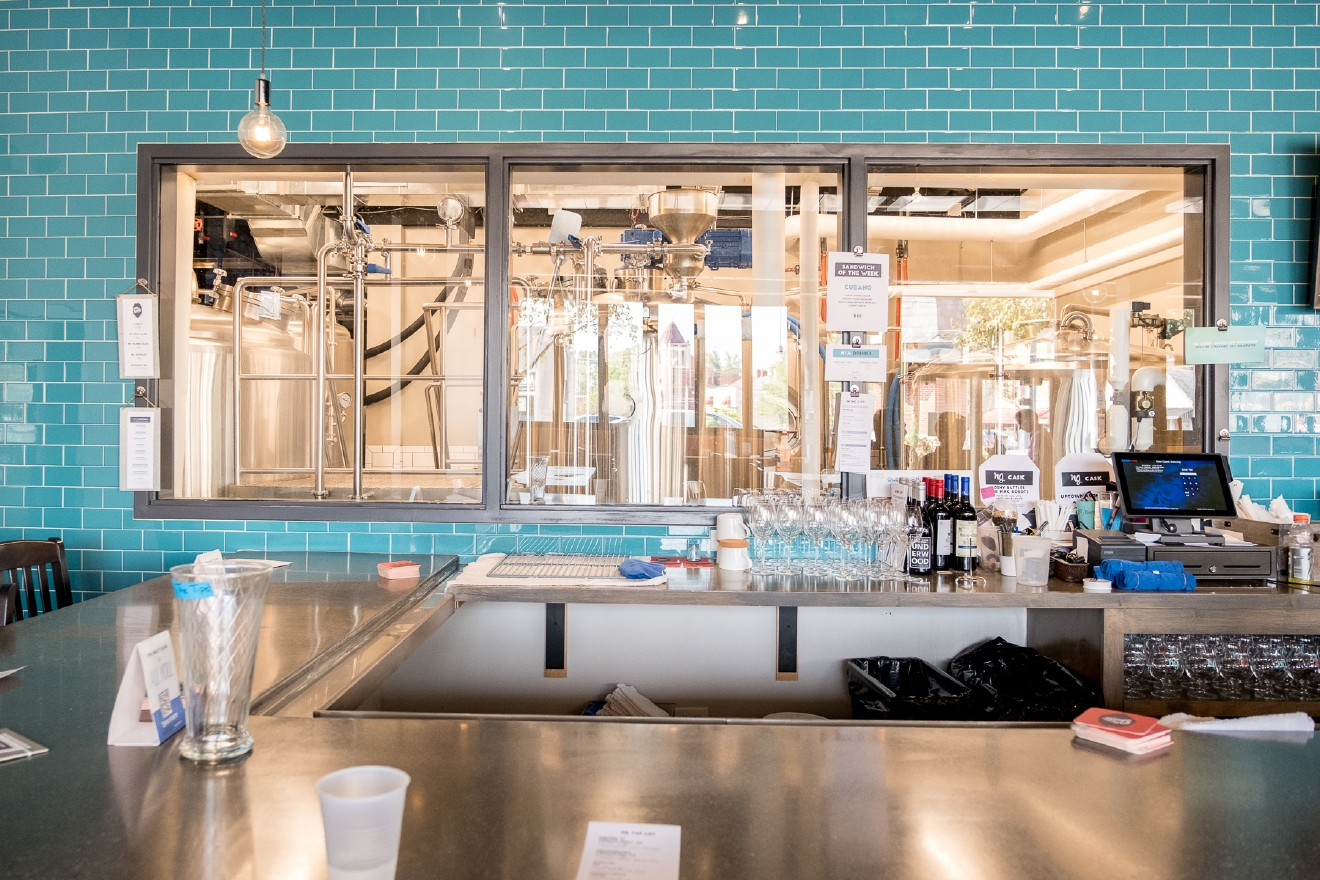 Not all breweries have a full kitchen in addition to their taproom, but not all breweries are Nine Giant. It is located in Pleasant Ridge at 6095 Montgomery Road, Cincinnati, 45213. / Image: Daniel Smyth Photography