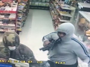 <p>Two men robbed a convenience store on S. 4th Street earlier this week and Beaumont police need the public's help identifying suspects. The armed robbery happened Tuesday, Jan. 30, around 10:50 p.m., at the Shop N Save. (Photo provided by Beaumont PD)</p>