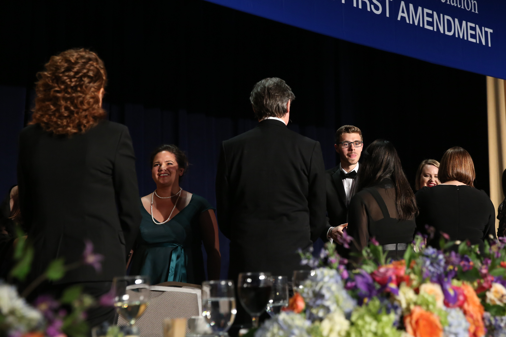 Students receive their awards from the White House Correspondents Association.{ } (Amanda Andrade-Rhoades/DC Refined)