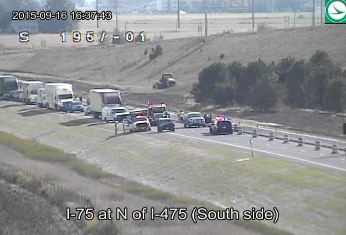 The wreck occurred between I-475 and US-20 near mile marker 192./OhGo.com