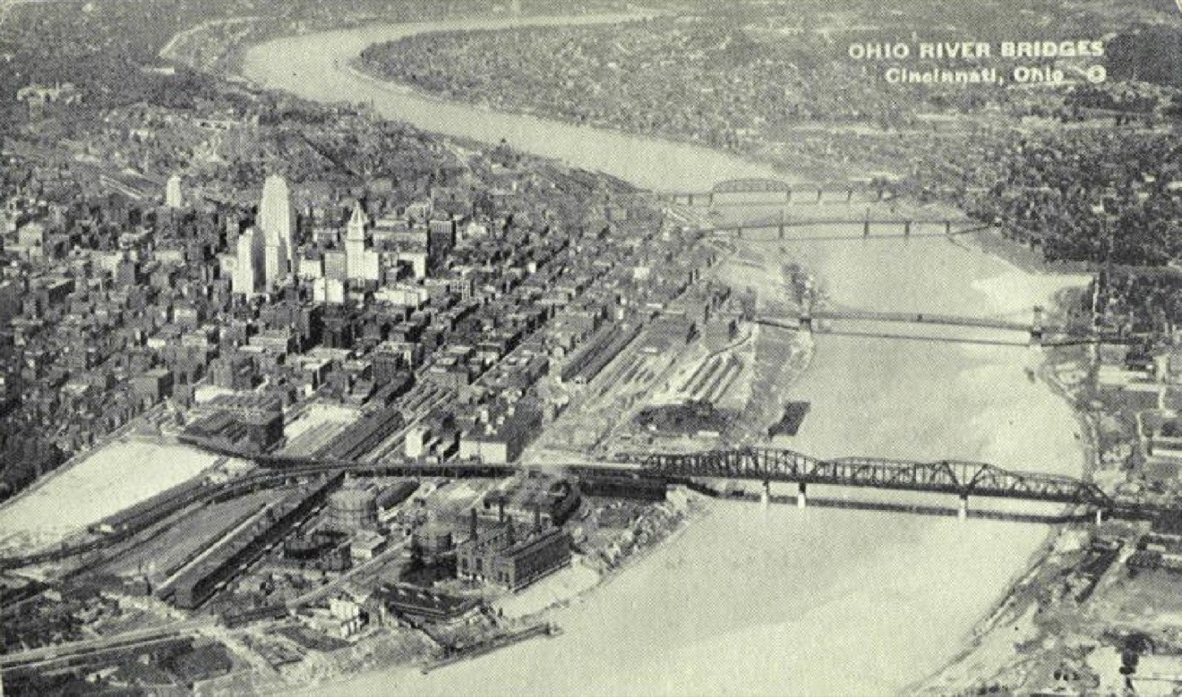 Downtown Cincinnati sure has changed over the years, and these photos of the past illustrate how drastic those alterations have been. The inclines are gone. Many old buildings in the Central Business District were demolished to make room for modern, high-rise office towers. The highways were constructed and took out a lot of the eastern part of the city at the base of Mt. Adams (where I-71 now runs) and the majority of the West End. Some of these changes have us longing for the past, but there are other developments, like the restoration of Music Hall & Union Terminal and the overall renaissance in Over-the-Rhine, that have us excited to head forward into the future.  / Image courtesy of Don Prout and his website CincinnatiViews // Published: 2.15.17