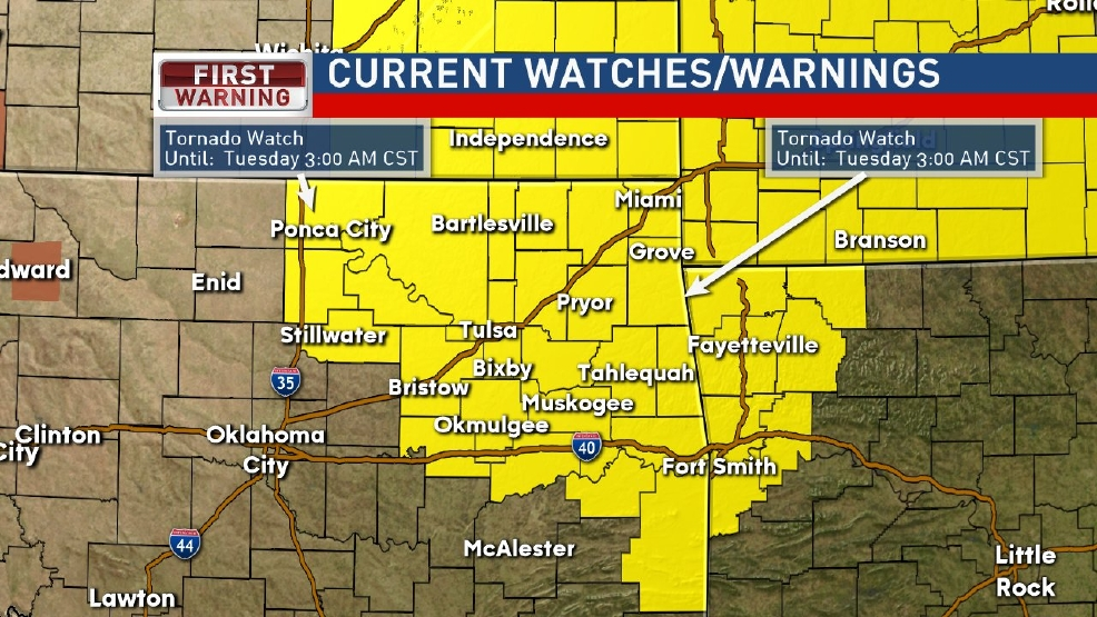 Tornado Watch until 3 a.m.